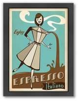 """Bed Bath & Beyond Americanflat """"Enjoy Espresso Italiano"""" Digital Print Wall Art"""