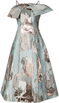 Vika Gazinskaya metallic detail flared dress - women - Silk/Polyester - 38