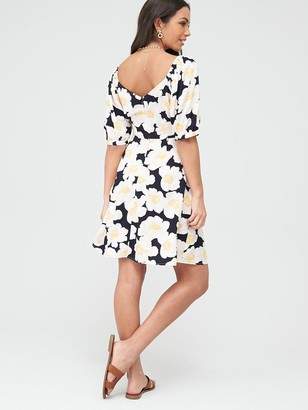 Warehouse Nicky Floral Mini Dress - Multi