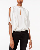 XOXO Juniors' Cold-Shoulder Cutout Blouse