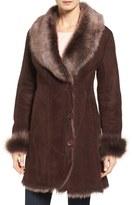 Women's Hide Society Genuine Toscana Shearling Coat