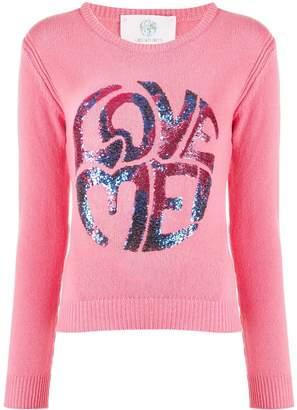 Alberta Ferretti Love Me sequinned jumper