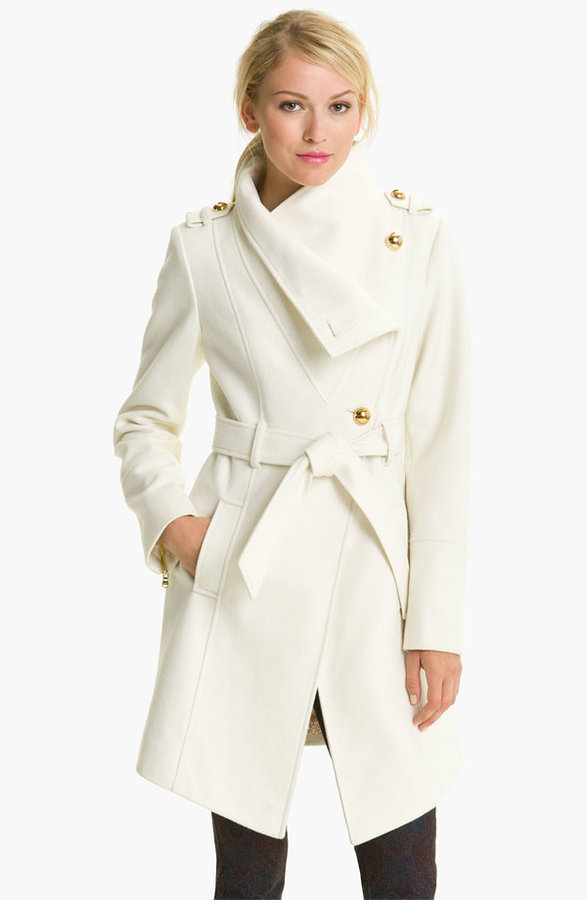 GUESS Belted Asymmetrical Coat