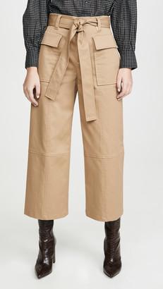 Jason Wu Cotton Twill Utility Wide Leg Pants