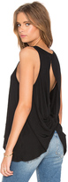 Bobi Light Weight Jersey Open Back Scoop Neck Tank