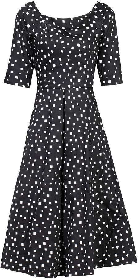 Dorothy Perkins Womens *Jolie Moi Black Pattern Midi Fit And Flare Dress