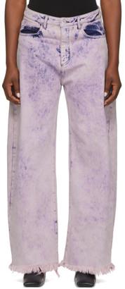 Marques Almeida Pink Boyfriend Jeans