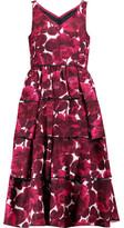 Marc by Marc Jacobs Frayed Printed Silk Midi Dress