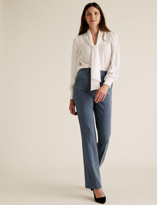 Marks and Spencer High Waisted Flared Leg Trousers