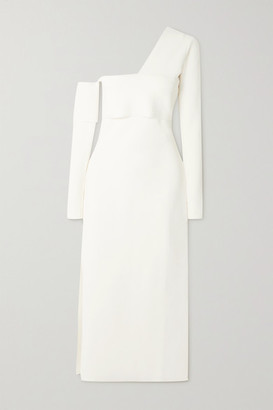 Proenza Schouler One-shoulder Cutout Knitted Maxi Dress - Off-white