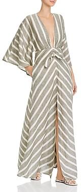 Significant Other Phoenix V-Neck Tonal Stripe Maxi Dress