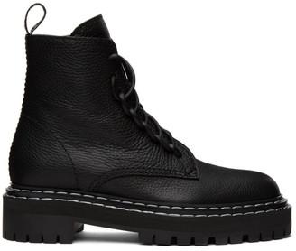 Proenza Schouler Black Lug Sole Combat Boots