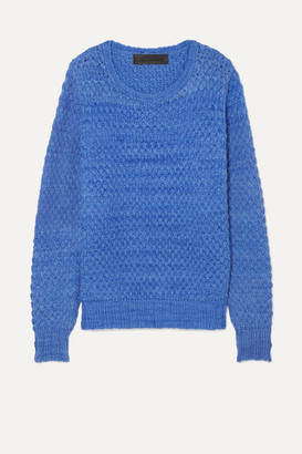 The Elder Statesman Waffle-knit Cashmere Sweater - Lilac
