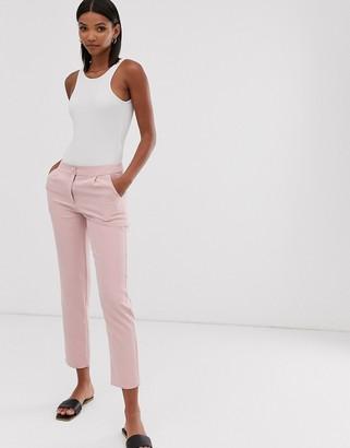 UNIQUE21 pleat detail pencil pants-Pink