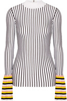 Emilio Pucci Striped Ribbed-knit Sweater - White
