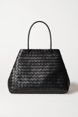 Bottega Veneta Cabas Large Intrecciato Leather Tote - Black