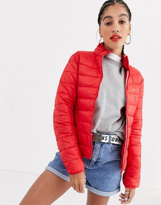 Tommy Jeans Essential padded lightweight jacket-Red