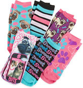 Pink Cookie 6-pk. Cute Photoreal Socks - Girls 6-11