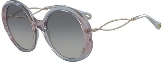 Chloé 57mm Oval Sunglasses