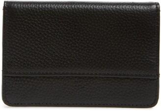 Nordstrom Ruby Pebbled Leather Cardholder