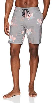 Trunks Reef_Apparel Men's Reef Isle Swimmer Black Short, Bla, (Size: 34)
