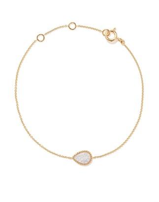 As 29 18kt yellow gold Mye pear beading pave diamond bracelet