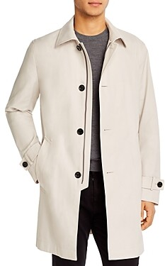BOSS Dain Water-Repellent Regular Fit Overcoat