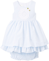 Laura Ashley White Pleated A-Line Dress - Infant