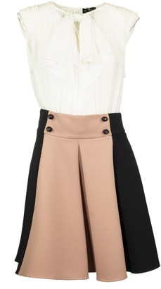 Elisabetta Franchi Celyn B. Dress With Two-colour Miniskirt