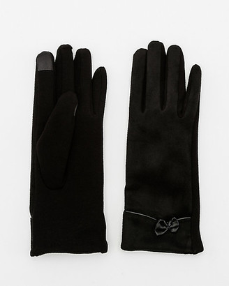 Le Château Cotton Blend Bow Touchscreen Gloves