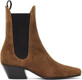 Thumbnail for your product : KHAITE Tan Saratoga Ankle Boots