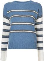 Derek Lam 10 Crosby Long Sleeve Striped Crewneck Sweater