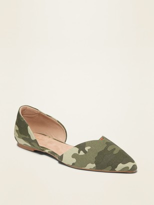 Old Navy Camo Canvas D'Orsay Flats for Women