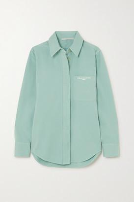 Stella McCartney Printed Stretch-cotton Twill Shirt - Mint