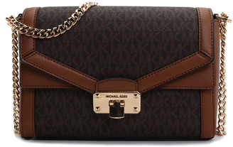 Michael Kors Women's Crossbodies BROWN/LUGGAGE - Brown & Luggage Signature Kinsley Medium Crossbody Bag