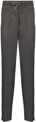 Eleventy Tailored Wool Track Pants