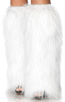 Leg Avenue White Furry Leg Warmers