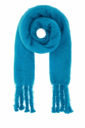 Loewe Embossed Anagram Patch Fringed Scarf