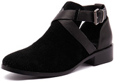 Mollini Flours Black Suede Cut/Black Leather