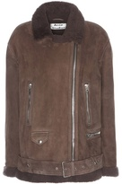 Acne Studios More Suede Shearling-lined Jacket