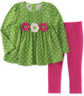 Kids Headquarters 2-Pc. Flower Tunic and Leggings Set, Toddler and Little Girls (2T-6X)