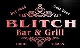 AdvPro Name u04139-r BLISSETT Family Name Bar & Grill Cold Beer Neon Light Sign