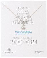 Dogeared Sterling Silver Take Me to the Ocean Anchor Necklace