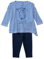 Ralph Lauren Childrenswear Two-Piece Striped Top and Jersey Legging Set
