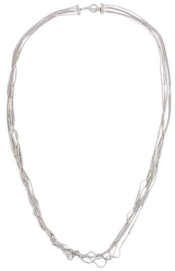 David Yurman 925 Sterling Silver Five Row Box Chain Necklace