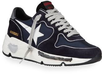 Golden Goose Men's Running Sole Mix-Media Sneakers