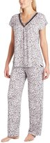 Carole Hochman Midnight Ladies 2-piece Modal Pajama Set, Gray White