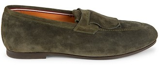 Bally Plummel Suede Penny Loafers