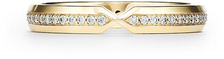 Tiffany & Co. The Setting nesting narrow band ring in 18k gold with diamonds