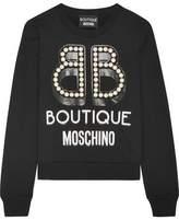 Moschino Embellished Printed Cotton-Jersey Sweatshirt